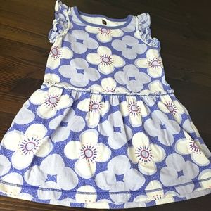Tea collection dress girls 2T purple and white